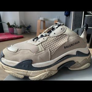 Balenciaga TripleS Mesh & Leather Trainer Sneakers